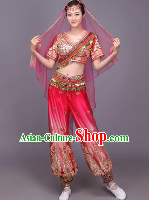 Chinese Traditional Uyghur Nationality Dance Costume Belly Dance Dress for Women