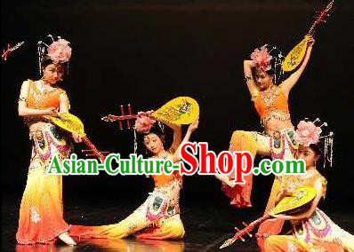 Chinese Traditional Folk Dance Costume Classical Flying Apsaras Dance Clothing for Women