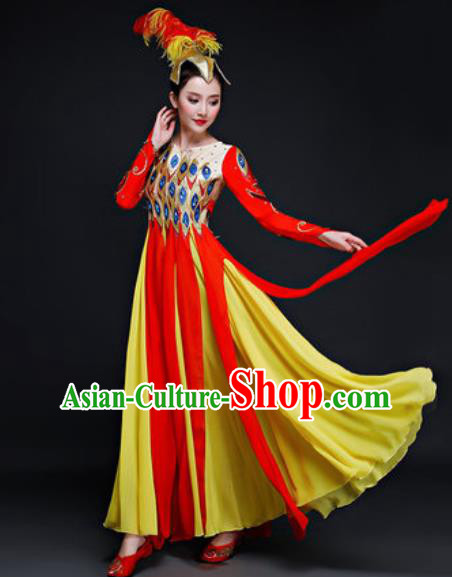 Chinese Traditional Classical Dance Costume Folk Dance Peacock Dance Dress for Women