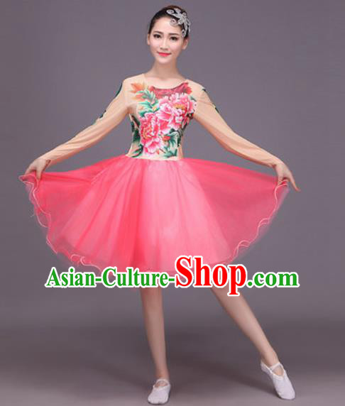 Chinese Classical Dance Costume Traditional Folk Dance Dress for Women