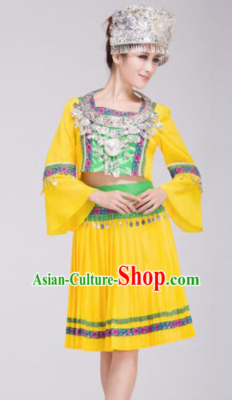 Chinese Traditional Miao Nationality Dress Hmong Minority Folk Dance Ethnic Costume for Women