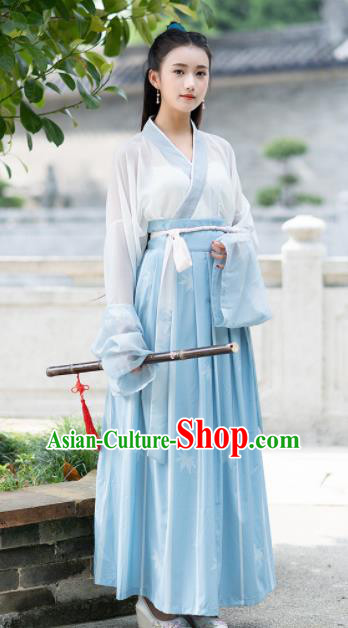Chinese Ancient Jin Dynasty Swordswoman Embroidered Costumes for Women