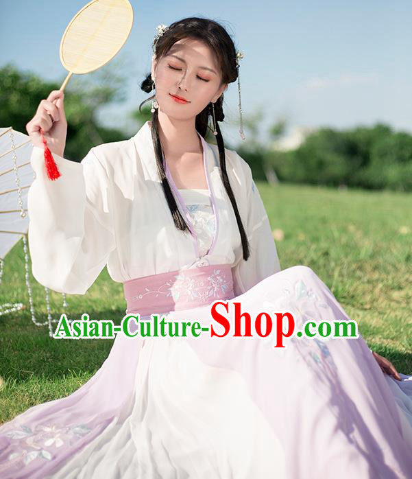 Ancient Chinese Tang Dynasty Palace Lady Costumes Hanfu Dress for Rich