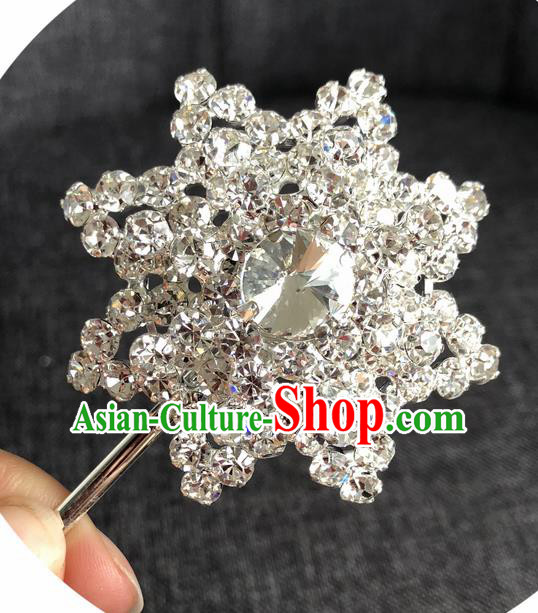 Chinese Ancient Princess Hairpins Traditional Peking Opera Diva Crystal Hair Accessories for Women
