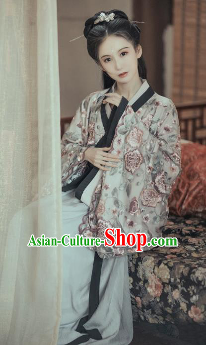Chinese Traditional Jin Dynasty Princess Historical Costumes Ancient Peri Hanfu Dress for Women