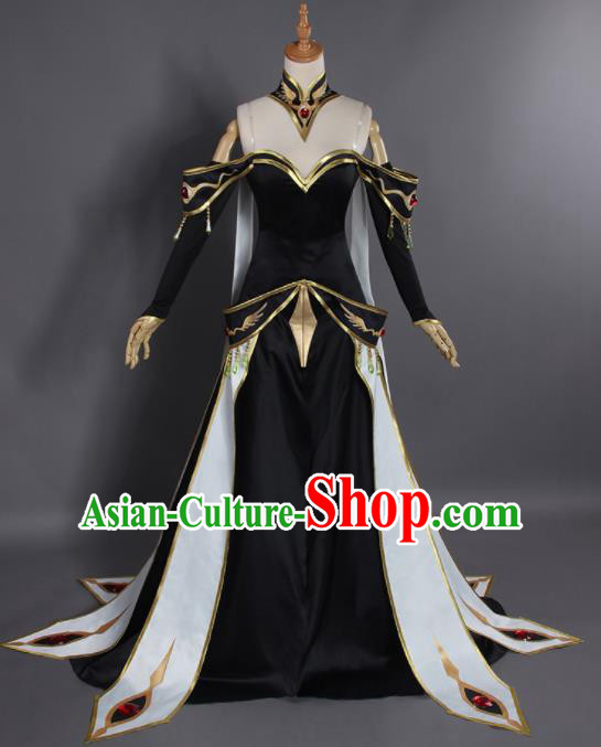 Chinese Traditional Cosplay Queen Costumes Ancient Swordswoman Hanfu Clothing for Women