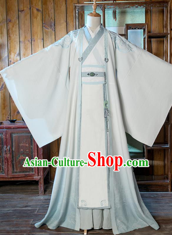 Chinese Traditional Cosplay Taoist Costumes Ancient Nobility Childe Swordsman Clothing for Men
