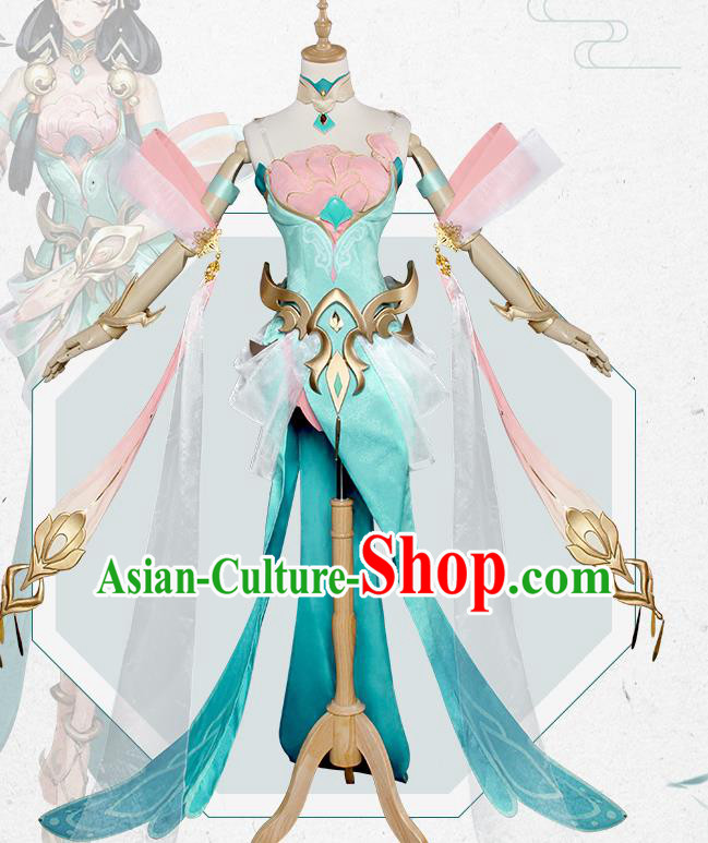 Chinese Traditional Cosplay Peri Costumes Ancient Swordswoman Hanfu Clothing for Women