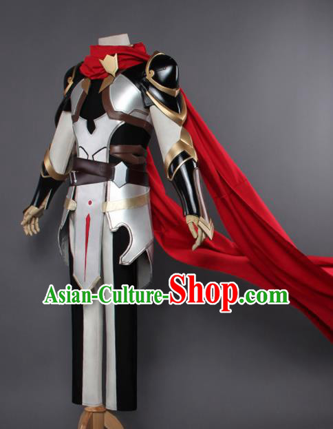 Chinese Traditional Cosplay Swordsman Body Armour Ancient Knight Costumes for Men