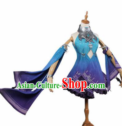 Top Grade Chinese Cosplay Young Lady Female Assassin Costumes Ancient Swordswoman Dress for Women