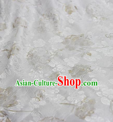 Asian Chinese Traditional Pattern Fabric White Brocade Silk Fabric Material