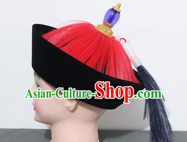 Chinese Traditional Peking Opera Hats Ancient Qing Dynasty General Hat for Men