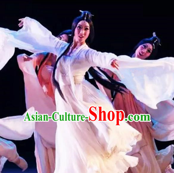 Chinese Traditional Classical Dance Costumes Ancient Peri Dance Dress for Women