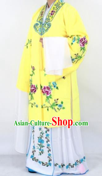 Chinese Traditional Peking Opera Actress Costumes Ancient Nobility Lady Yellow Cloak for Women