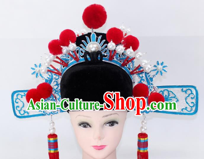 Chinese Traditional Peking Opera Niche Headwear Ancient Scholar Bridegroom Hat for Men