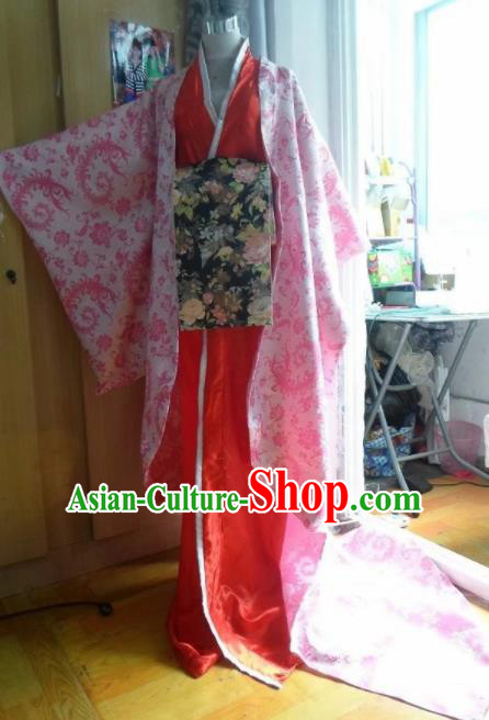 Traditional Chinese Han Dynasty Classical Dance Costumes Ancient Imperial Consort Red Hanfu Dress for Women