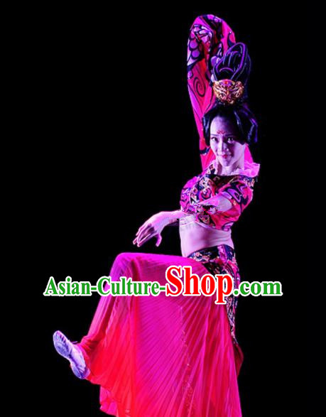Chinese Traditional Classical Dance Costumes Ancient Folk Dance Clothing for Women