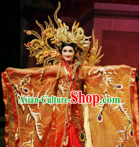 Chinese Traditional Classical Dance Costumes Ancient Queen Stage Performance Dress for Women