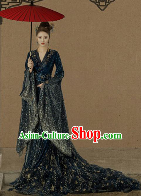 Traditional Chinese Ancient Imperial Consort Costumes and Headpiece for Women