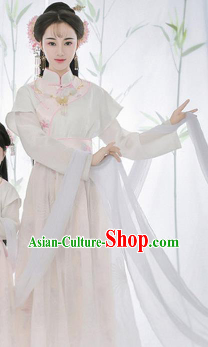 Traditional Chinese Ancient Ming Dynasty Imperial Concubine Costumes and Headpiece Complete Set for Women