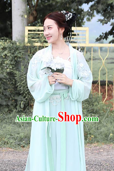 Traditional Chinese Song Dynasty Nobility Lady Costumes Ancient Peri Embroidered Dress for Rich