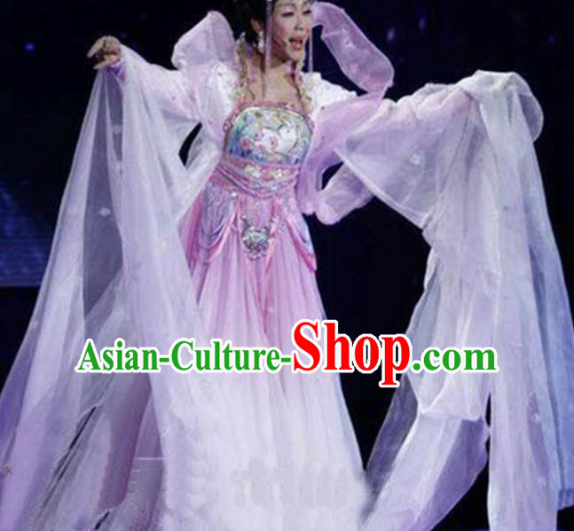 Chinese Tang Dynasty Imperial Consort Yang Embroidered Costumes Ancient Peri Hanfu Dress for Women