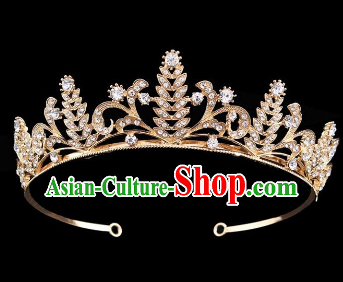Top Grade Baroque Court Princess Golden Hair Clasp Bride Wedding Hair Jewelry Accessories for Women