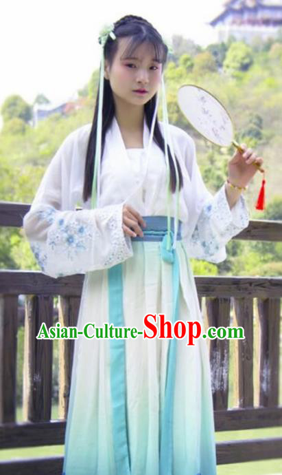 Traditional Chinese Tang Dynasty Nobility Lady Embroidered Costumes for Rich Women