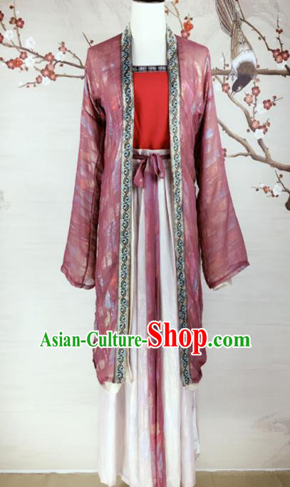 Chinese Song Dynasty Costumes Ancient Nobility Lady Hanfu Dress for Women