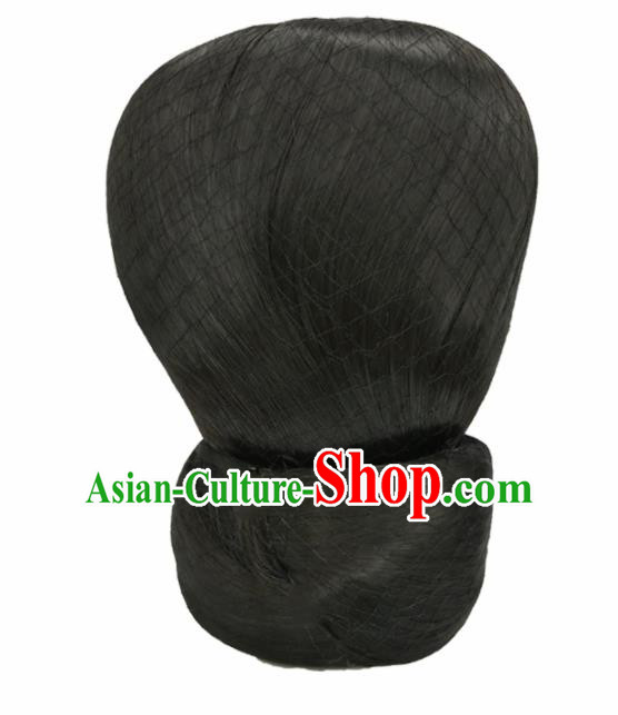 Chinese Ancient Hair Accessories Han Dynasty Imperial Consort Chignon Wigs for Women