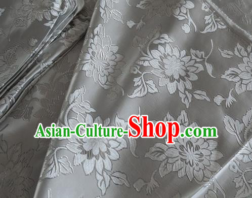 Asian Chinese Traditional Pattern Design White Brocade Fabric Silk Fabric Chinese Fabric Material