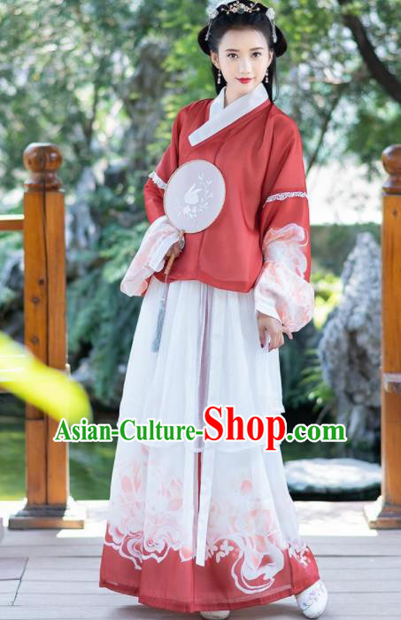Traditional Chinese Ming Dynasty Princess Costumes Ancient Nobility Lady Hanfu Dress for Rich