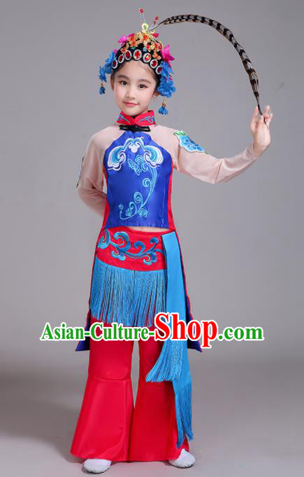 Chinese Traditional Classical Dance Costumes Beijing Opera Dance Clothing for Kids