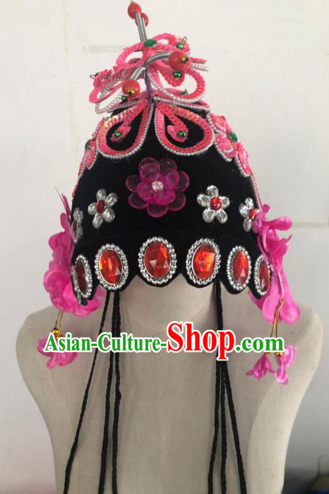 Chinese Traditional Beijing Opera Headdress Folk Dance Hair Accessories for Adults