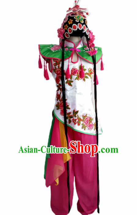 Chinese Ethnic Costumes Traditional Beijing Opera Folk Dance Clothing for Kids