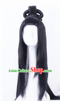 Traditional Chinese Drama Han Dynasty Princess Wigs Sheath Ancient Handmade Peri Chignon Hair Accessories for Women