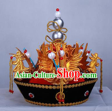 Chinese Traditional Handmade Queen Hats Ancient Qing Dynasty Empress Headwear for Women