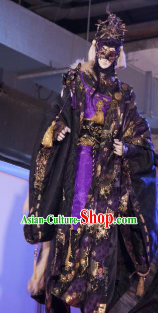 Asian Chinese Cosplay Costumes Ancient Swordsman Royal Highness Clothing for Men