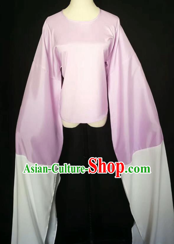 Chinese Traditional Peking Opera Costumes Ancient Water Sleeve Lilac Blouse for Adults
