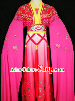 Chinese Traditional Peking Opera Costumes Ancient Nobility Lady Rosy Dress for Adults