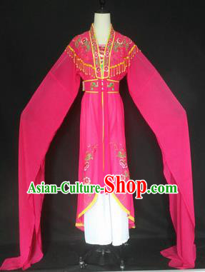 Chinese Traditional Peking Opera Costumes Ancient Court Maid Rosy Dress for Adults