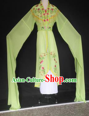 Chinese Traditional Peking Opera Costumes Ancient Court Maid Green Dress for Adults