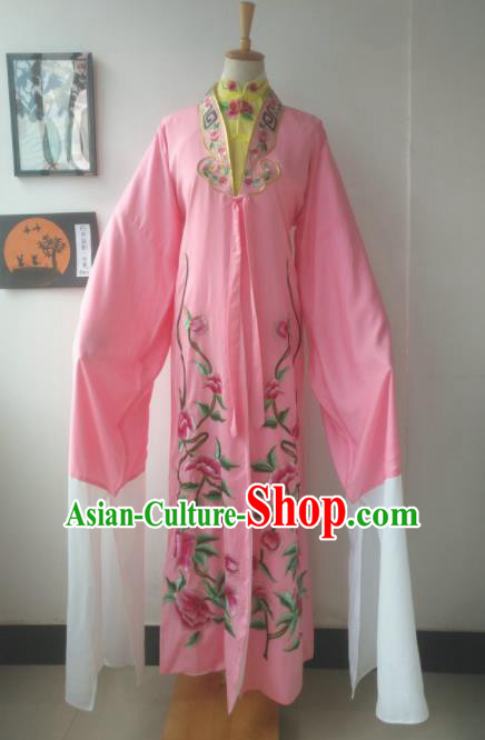 Chinese Traditional Peking Opera Diva Costumes Ancient Court Princess Pink Dress for Adults