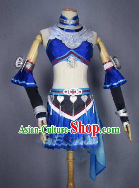 Asian Chinese Cosplay Costumes Ancient Swordswoman Dress Clothing for Women