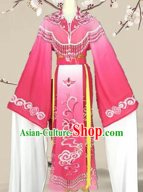Chinese Traditional Peking Opera Diva Princess Costumes Ancient Beijing Opera Rosy Dress for Adults