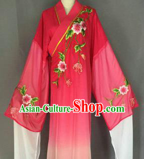 Chinese Traditional Peking Opera Niche Costume Ancient Scholar Rosy Robe for Adults