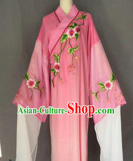 Chinese Traditional Peking Opera Niche Costume Ancient Scholar Pink Robe for Adults