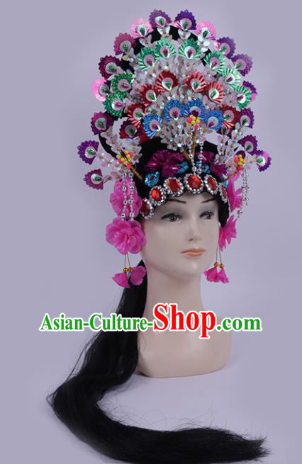 Chinese Traditional Peking Opera Actress Hair Accessories Ancient Fairy Phoenix Coronet Hairpins for Women