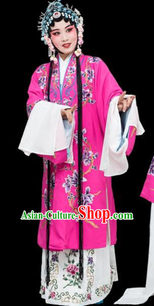 Chinese Traditional Beijing Opera Actress Costumes Ancient Nobility Lady Embroidered Dress for Adults