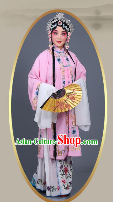 Chinese Traditional Beijing Opera Actress Costumes Ancient Nobility Lady Pink Dress for Adults